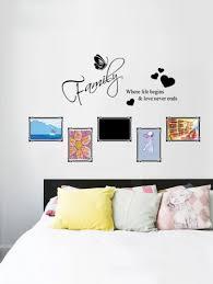 slogan frame decor wall sticker