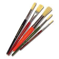 paint brushes. set of 5 paint brushes t