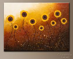 sunflower meadow abstract art painting image by carmen guedez on sunflower wall art canvas with sunflower meadow abstract art large original abstract painting