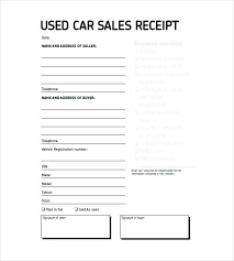 Bill Of Sale Word Template Magnificent Bill Sale Receipt Template Of Free Form For Used Car Printable