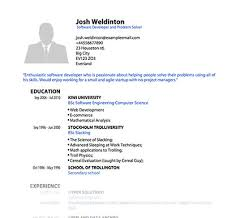 Pdf Templates For Cv Or Resume Pdfcv Com