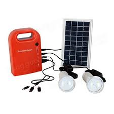 portable solar power bank panel 2 led lamp with usb cable battery charger emergency lighting system