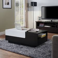 furniture coffee table modern best of iohomes carone modern coffee table black white modern