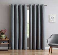 warm home designs 1 panel of extra thick premium grey insulated thermal blackout curtains