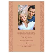 Wedding Announcement Photo Cards Ornate Penny 3 5x5 Wedding Announcement Cards Stationery Cards