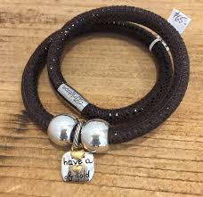brighton heart of gold bracelet leather