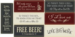 7 edge wood signs wooden plaques with sayings