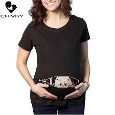 <b>Chivry</b> Maternity T Shirt Women Summer Casual Cartoon <b>Baby</b> Print ...