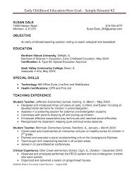 Resume Template Preschool Teacher Resume Template Sample Of For