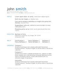 Resume Examples Resume Templates Microsoft Word 2007 Free Download