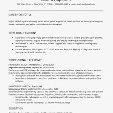 Bls Certification On Resume Ultrasound Technician Resume Example And Skills