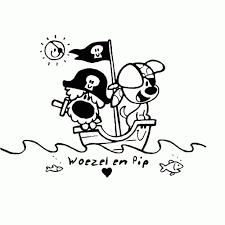 Leuk Voor Kids Woezel En Pip Spelen Piraat Beste Kleurplaat Woezel