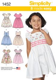 Simplicity Patterns Classy 48 Simplicity Pattern Child S Dress With Bodice And Sleeve Variations