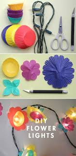 string light diy ideas for cool home decor cup cake flower lights are fun for