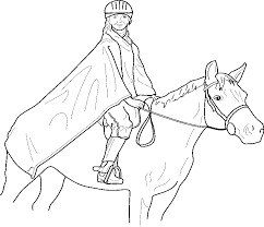 Realistic Horse Jumping Coloring Pages Jumping Horse Coloring