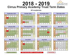 Term Dates | Avenue Primary Academy