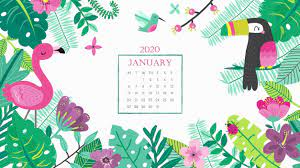 Desktop Calendar Wallpaper January 2020 ...