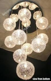 light clear glass with silver aluminium wire round sphere chandelier rope net hanging simple e scroll to next item glass sphere chandelier