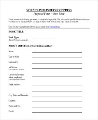 9 Book Proposals Form Samples Free Sample Example Format Download