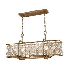 elk lighting 32095 6 armand 6 light chandelier in matte gold with clear crystal