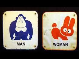 mens and womens bathroom signs. funny \u0026 creative bathroom signs (#1) | men v women mens and womens e