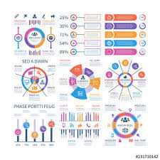 Financial Infographic Business Bar Graph And Flow Chart
