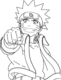 naruto coloring page pages to tiny
