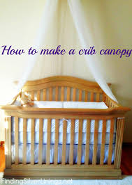 Tulle Canopy Diy How To Make A Crib Canopy Finding Silver Linings