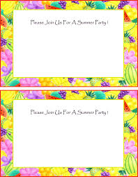 Free Party Invitations Free Summer Party Invitations Free