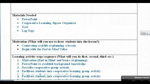 Lesson Plans Formats Elementary Lesson Plan With Examples Video Youtube