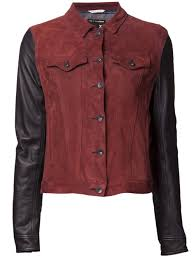 new suede jean jacket with leather sleeves by rag bone