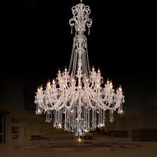 45 arm church chandelier crystal lighting led candle extra large modern crystal chandelier hotel hall led chandelier res de cristal chandelier for