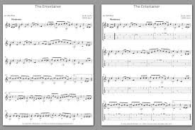 If you are learning to play the piano, sooner or later you will bump into this popular song, which you would want to learn and play. Free Classical Guitar Sheet Music Scott Joplin The Entertainer