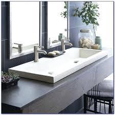 undermount trough bathroom sink with two faucets trough bathroom sink with two faucets bathroom faucet bathroom