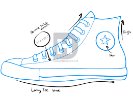 converse shoes clipart. description: here is a quick sketch of break down on the chuck taylor all-stars by converse. i just point out some features associated with converse shoes clipart