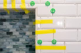 grouting beveled subway tiles