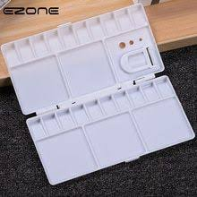 <b>EZONE 25 Grids Palette</b> Empty Watercolor Paints Tins Box with Full ...