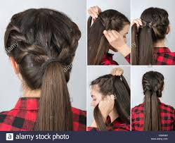 Twisted Hair Style simple twisted hairstyle tutorial step by step easy hairstyle for 4301 by wearticles.com