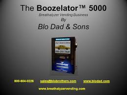 Breathalyzer Vending Machine Business Custom The Boozelator™ 48 Breathalyzer Vending Business By Blo Dad Sons
