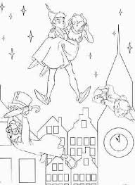 Small Picture Peter Pan and city coloring page