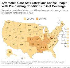Pre Existing Condition Chart Affordable Care Act Protections Enable People With Pre