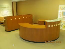 reception desk round