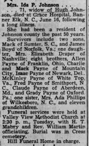 Ida Payne Johnson 1957 - Newspapers.com