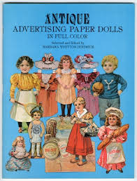97 16817 antique advertising paper dolls in full color paper doll toy book paper dolls dolls collections the strong