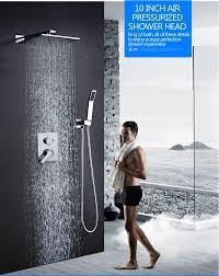 Hm 10 Regendusche Kopf System Chrom Poliert Bad Dusche