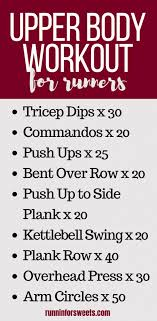 at home upper body workout for runners