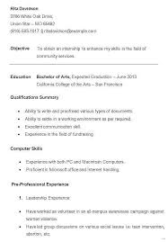 Resume For College Student With No Experience Best Of Objective For