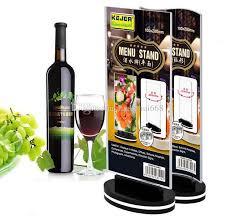 Menu Display Stands Restaurant Rotatable Acrylic Restaurant Menu Card Display Stand Advertising 95