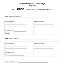 Sample Proposal Cover Page Template 14 Free Documents In Pdf Word