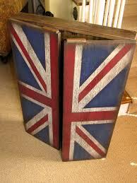 Dart Board Cabinet With Chalkboard Rustic Dart Board Cabinet With British Flag